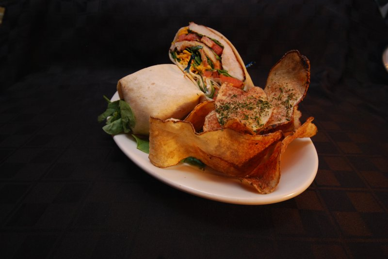 Grilled Chicken Wrap with Steiny's Homemade Chips