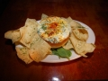 Spinach Dip with homemade Tortilla Chips
